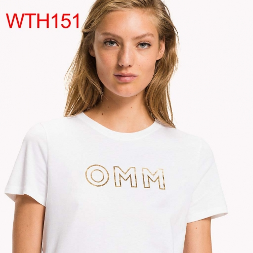 WTH151    woman t shirt fashion o neck short sleeve shirts 95% cotton