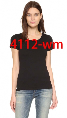 4112    woman t shirt fashion o neck short sleeve shirts 95% cotton