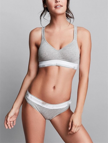 1033  Womens Breif Set Female Cotton Sport Bra Sets