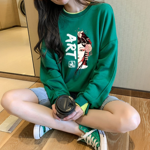 Large Size Women's Autumn and Winter 2020 New Fashion Age Reducing Loose Casual Chinese Style Pullover Sweater