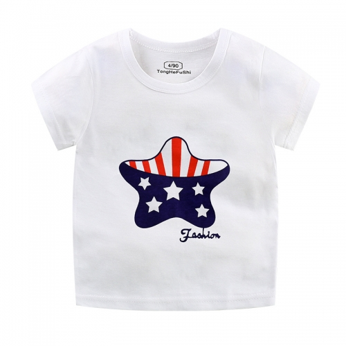 KCK0301325 Children's Summer Cotton Children's Short-sleeved T-shirt Unisex Wear Boys and Girls