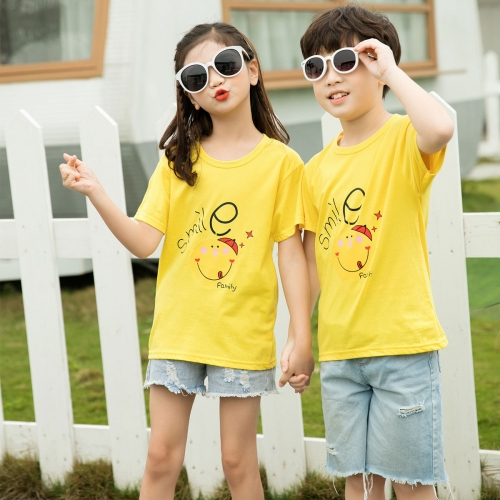 KTM0301335 Children's Summer Cotton Children's Short-sleeved T-shirt Unisex Wear Boys and Girls
