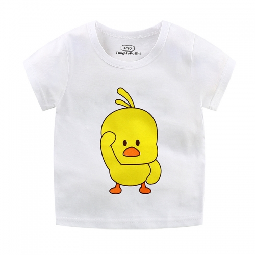 KTH377  Children's Summer Cotton Children's Short-sleeved T-shirt Unisex Wear Boys and Girls