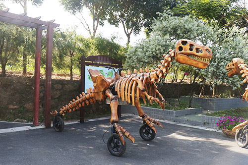 Amusement Fiberglass Dinosaur Skeleton Ride