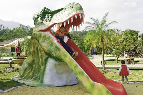 Amusement Equipment T-rex Head Slide