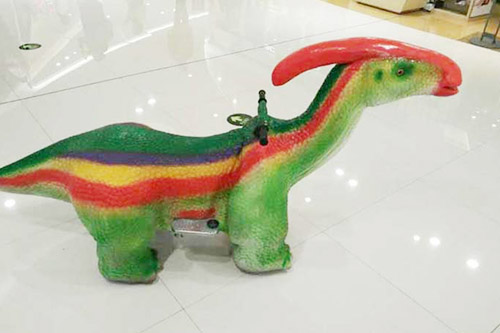 Kids Playing Exercise Coin Operated Kiddy Walking Animal Kiddie Ride