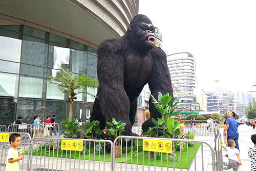 Vivid Robotic Animal Model Gorilla Statues For Sale