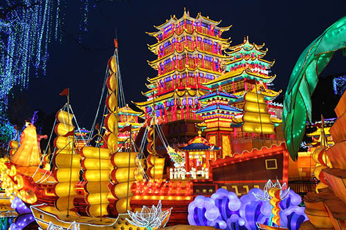 Celebrate Holiday With Lantern Decoration Festival