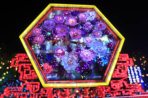 Chinese New Year Attraction Traditional Silk Lantern Festival