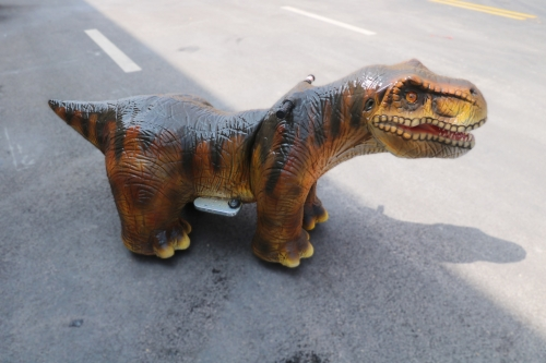 Animatronic T-rex ride for kids