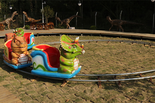 Fiberglass Train Ride Cartoon Dinosaur Ride