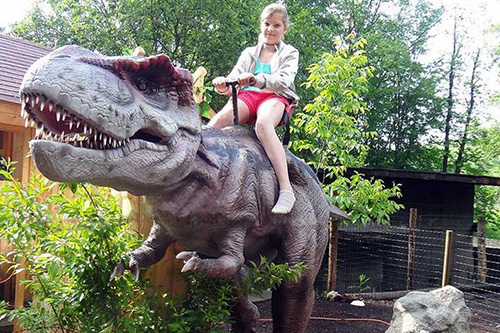 Theme Park Giant Size T-rex Ride
