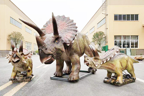 Adventure Park Display Triceratops Model
