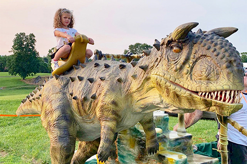 Outside Animatronic Kiddle Dinosaur Rides for Sale