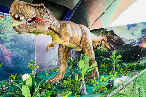 Animatronic T-rex indoor exhibition model