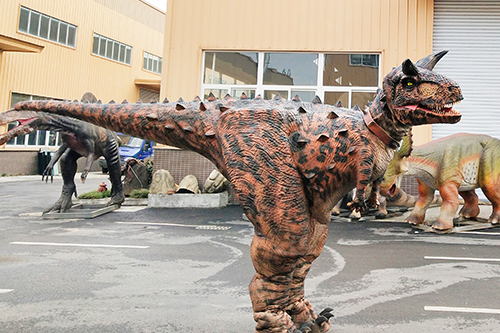 Walking Dinosaur Costume Animatronic Carnotaurus