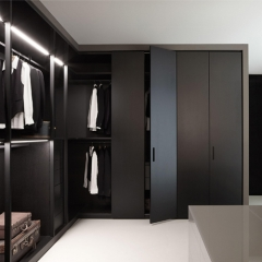 matte lacquer wardrobe Walk-in closet