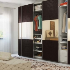 Wooden Sliding Door Bedroom Wardrobe Closet Design