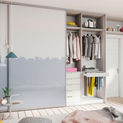 Sliding 2 Door Bedroom Wardrobe Closet Design