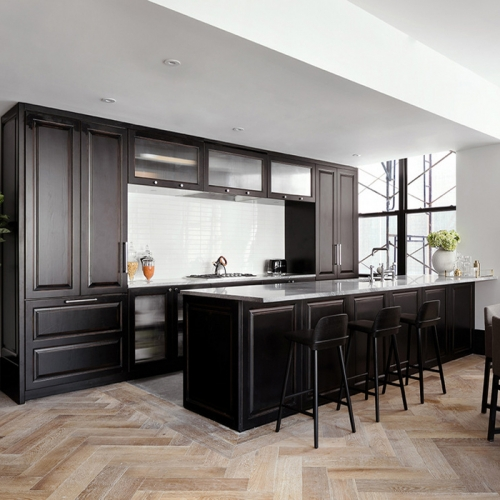 Allandcabinet Classic designing solidwood Kitchen cabinet-Allandcabinet project-LA-USA