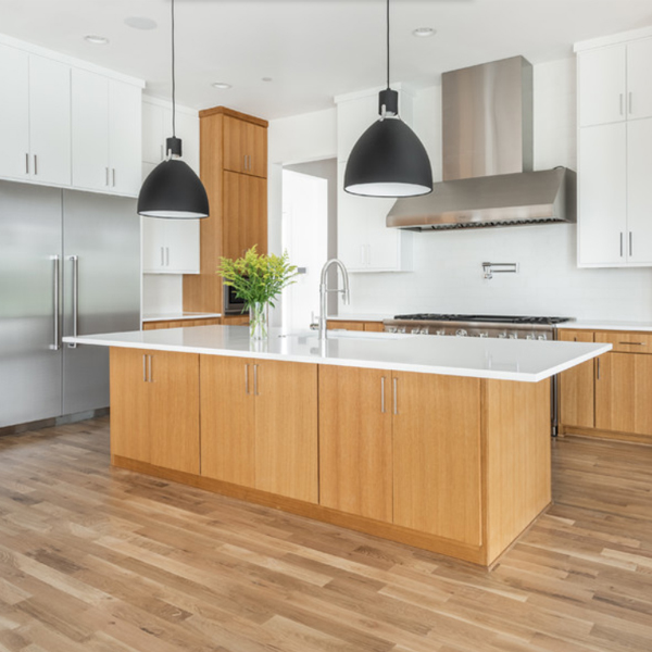 Contemporary design kitchen cabinets with melamine finish ,project in Liverpool,UK