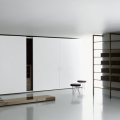 White sliding door wardrobe