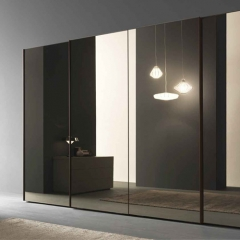 Sliding mirror door closet