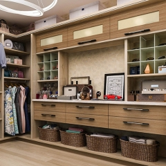 Timber tone walk in wardrobe