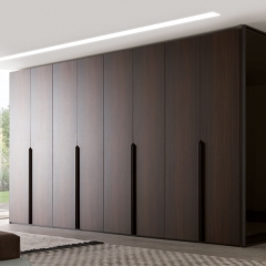 Wood tone casement wardrobe