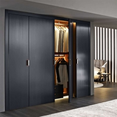 Black painted casement wardrobe