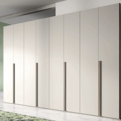 Mat lacquer painted casement wardrobe