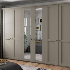 Mat painted grey shaker casement closet