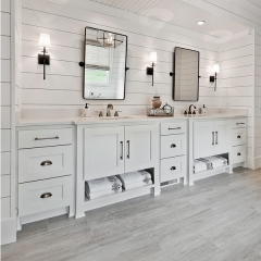 White painted American style vanity