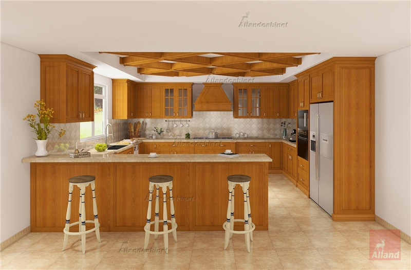 Allandcabinet framed solid pine wood kitchen cabinet