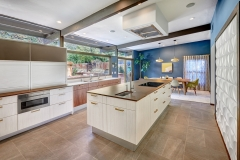 Contemporary kitchen with walnut timber grain -Allandcabinet