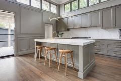 Mat grey lacquer transitional kitchen cabinet-Allandcabinet
