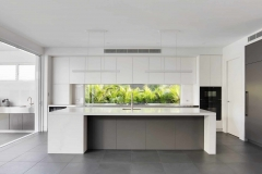 J handle white lacquer kitchen-Allandcabinet