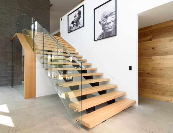 Custom prefabricated staircase