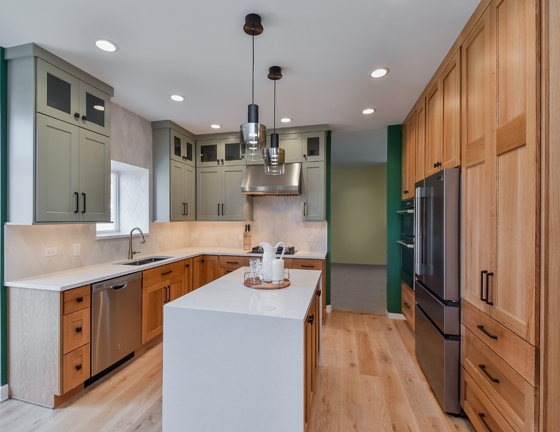 Soild wood kitchen cabinets