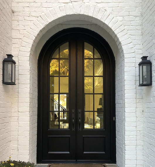 Wooden&Iron entry front doors