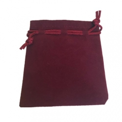 Budget Flocked Cloth Medium Pouch
