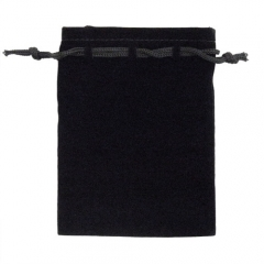Budget Flocked Cloth Large Pouch