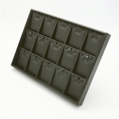 Leatherette Divided Tray with 15 x Pendant Pads