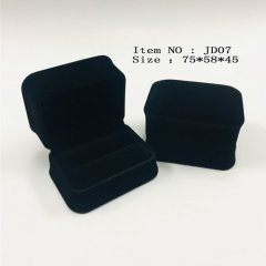 JD07 Velvet Double Ring Box