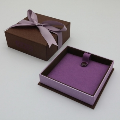 H100 Purple Ribbon Pendant Box