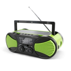 RunningSnail MD-094 G  Crank NOAA Weather Radio, Audio Speaker, AM/FM 4-Way Powered Radio with 4000mAh Battery, LED Flashlight, Reading Lamp