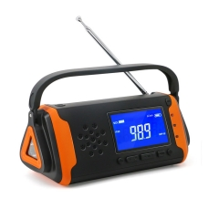 RunningSnail MD-097 Emergency Weather  Radio - Portable Solar Powered with Hand Crank, AM/FM/NOAA Weather Alert Radio, Aux Music Play,SOS Alarm