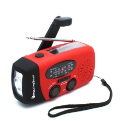 RunningSnail MD-088s Emergency Hand Crank Self Powered AM/FM NOAA Solar Weather Radio with LED Flashlight, 1000mAh Power Bank for iPhone/Smart Phone