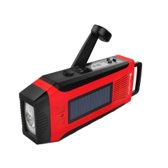 RunningSnail MD-093 AM/FM NOAA Weather Emergency Solar Digital Crank Radio with 3W LED Flashlight, SOS Alarm & 2000MAh Power Bank