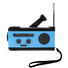 RunningSnail MD-055 NOAA Weather Crank Solar Powered Portable Radio with 2000mAh Battery Power for Cell Phone, Bright Flashlight and SOS Alarm